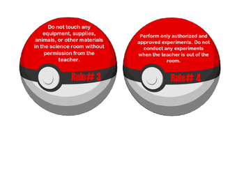 Pokemon Lab Safety Activity