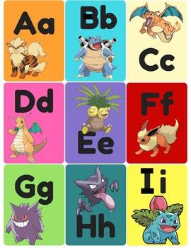 Pokemon Letters (Flash Cards, Go Fish)