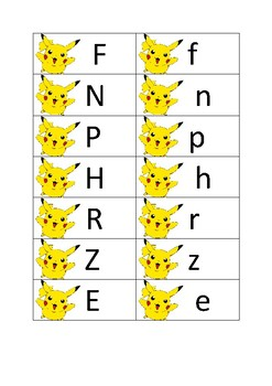 Pokemon Letters. sight words & sounds - pack 1