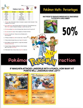Pokemon Mid Year Skill Review for Math