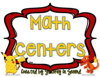 Math Centers {5 Centers}