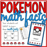 Pokemon Math Facts Multiplication and Division Incentive T