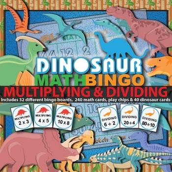 Multiplication Bingo & Division Bingo Games (2 math skills in 1)