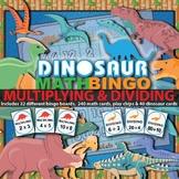 Multiplication Bingo & Division Bingo (Dinosaur Theme)