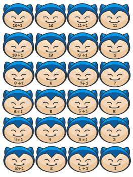 Pokemon Multiplication & Division Memory Game + Flashcards Bundle!