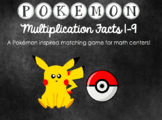 Pokemon Multiplication Facts Matching Game