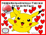 Pokemon Hidden Picture Multiplication Puzzles Task Cards