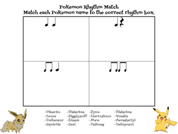 Pokemon Music Rhythm Game and Assessment
