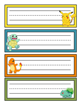Pokemon Nameplates and Calendar