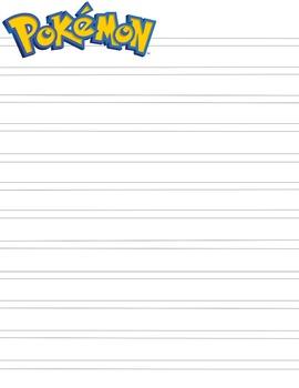 Pokemon Notebook Copywork Page HWOT Style