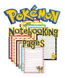 Pokemon Notebook Copywork Pages Primary Lined