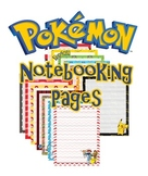 Pokemon Notebook Copywork Pages Primary Lined With Illustr