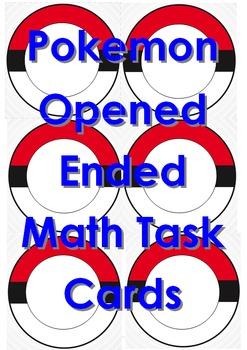 Pokemon Opened Ended Math Task Cards