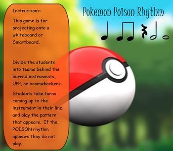 Pokemon POISON Rhythms Eighth and Sixteenth