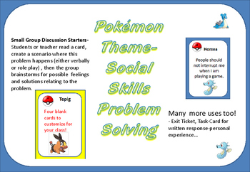 Pokémon -PROBLEM SOLVING -SOCIAL SKILLS