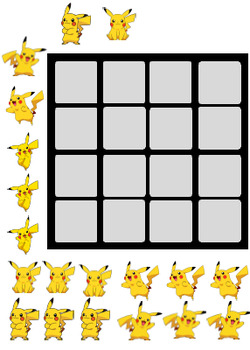 Pokemon/ Pikachu Token Board