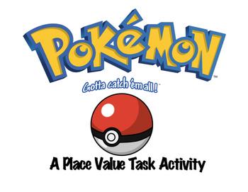 Pokemon Place Value Task Cards