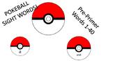 Pokemon Pokeball Sight Words