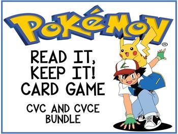 Pokemon Read It, Keep It! CVC and CVCE Bundle