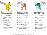 Pokemon Read and Question Bookmark
