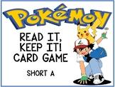 Pokemon Read it, Take it Card Game