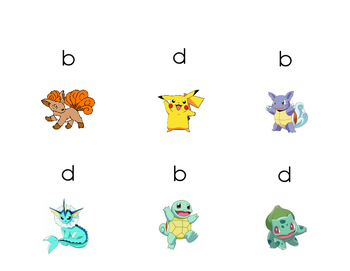 Pokemon Read it, Take it Card Game b and d reversal