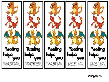 Pokemon Reading Bookmarks