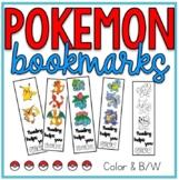 Pokemon Reading Bookmarks