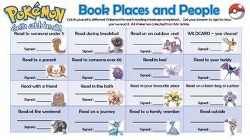 Pokemon Reading Challenges