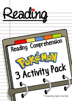 Pokemon Reading Comprehension - 3 Activity Pack