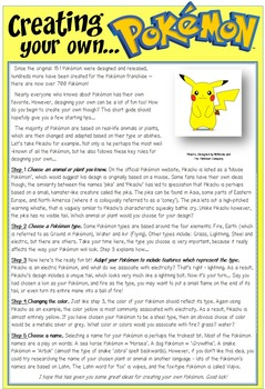 Pokemon Reading Comprehension - 3 Activity Pack