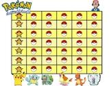 Pokemon Reward Chart SAMPLE