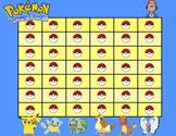 Pokemon Reward Chart (BLUE Ash Theme)
