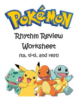 Pokemon Rhythm Review Worksheet