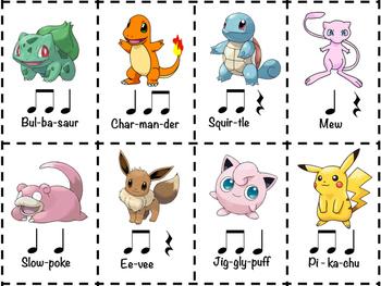 Pokemon Rhythm Cards (8)
