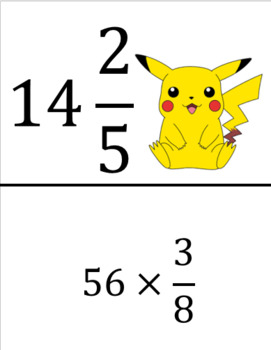 Pokemon Scavenger Hunt (Multiplying Fractions)