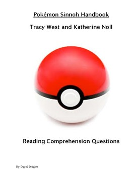 Pokémon Sinnoh Handbook Reading Comprehension Questions and Test