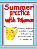 Pokemon Summer Review Packet (huge no prep bundle)