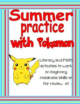 Pokemon Kindergarten Review Packet (huge no prep bundle)