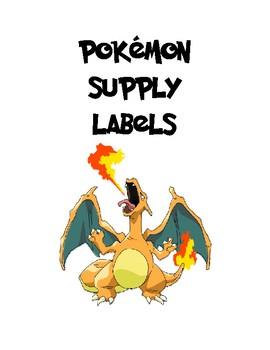Pokemon Themed Classroom Supply Labels