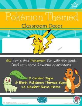 Pokémon Themed Desk Plates & Signs