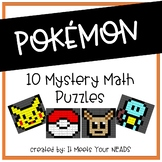 Pokemon Themed Mystery Math Picture Pack