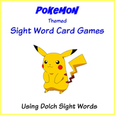 Pokemon Themed Sight Word Card Games - Dolch Sight Words