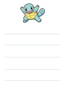 Pokemon Themed Writing Paper