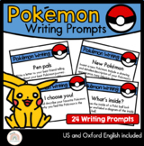 Pokemon Themed Writing Prompts and Activities - Writing Center