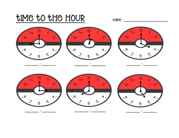 Pokemon - Time to the hour AND half hour!