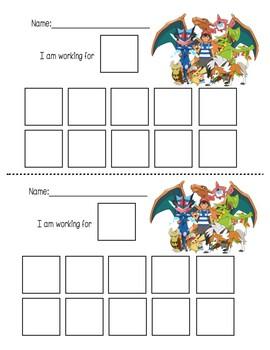 Pokemon Token Board (variety of pokemon tokens)