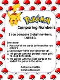 Pokemon Top It Cards for Comparing 2-digit Numbers