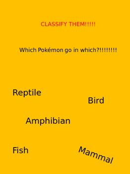 Pokemon Vertebrate Kingdoms
