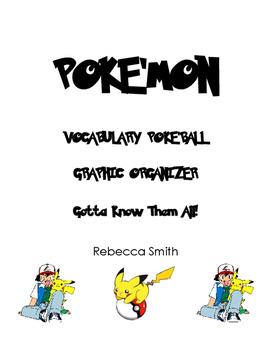 Pokemon Vocabulary Graphic Organizer